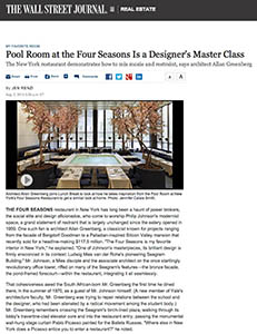 Pool Room at the Four Seasons Is a Designer's Master Class